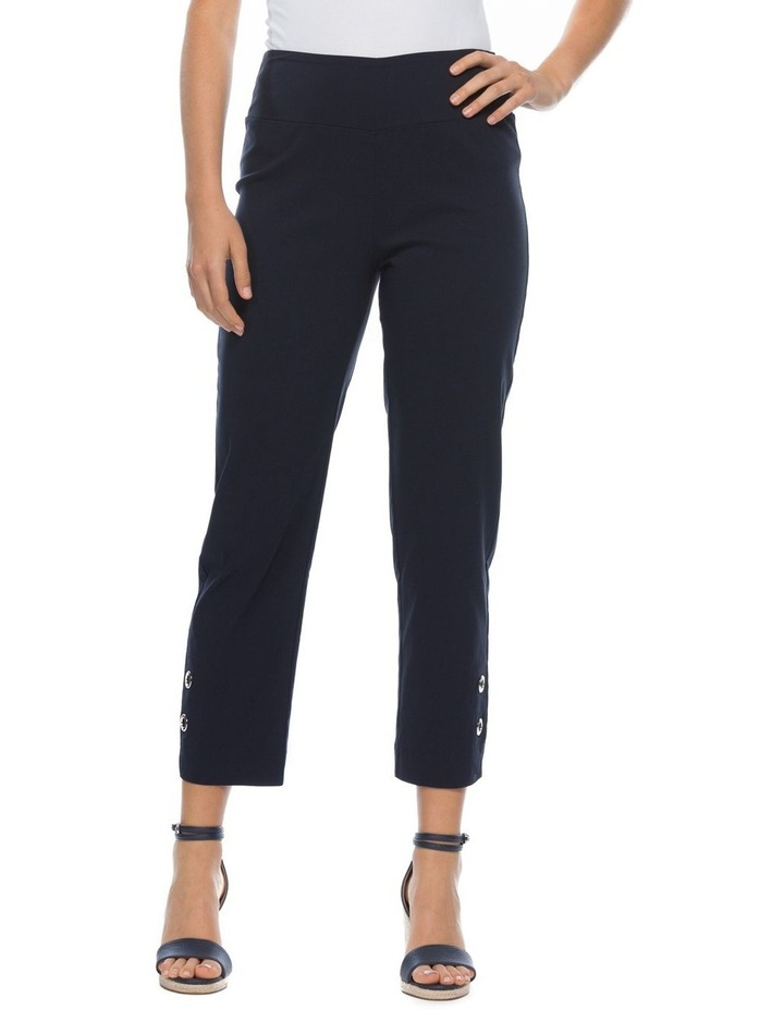 Eyelet Detail Stretch Pull On Pant image 1