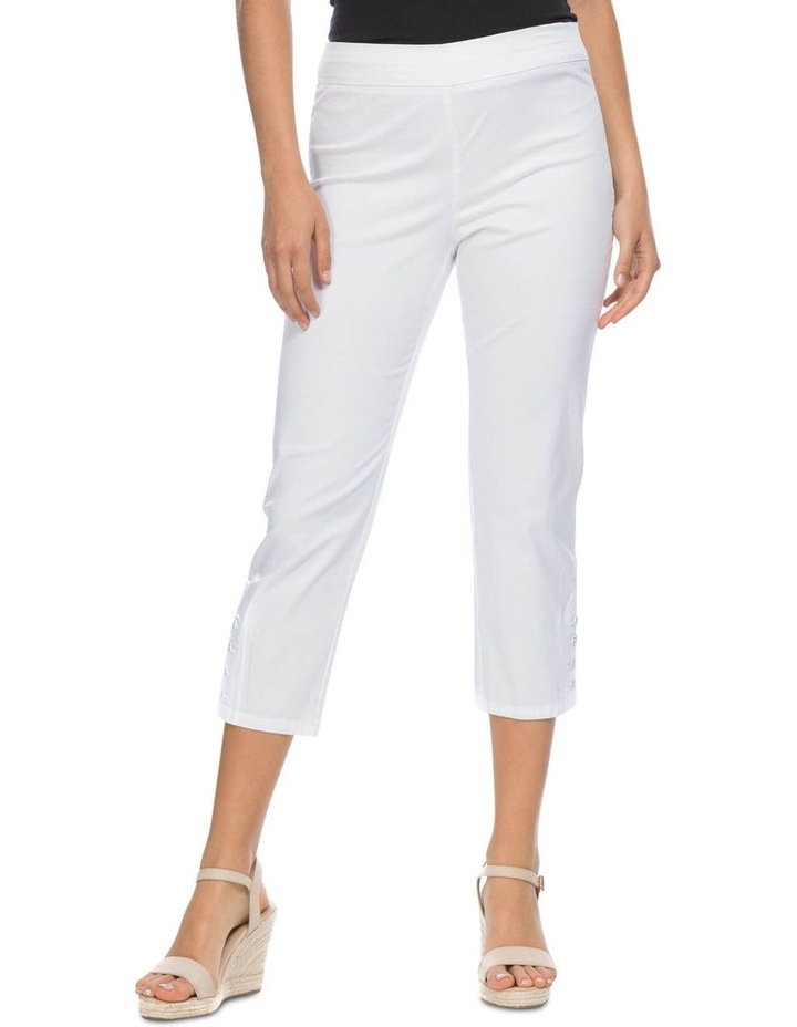 Button Crop Stretch Pull On Pant image 1