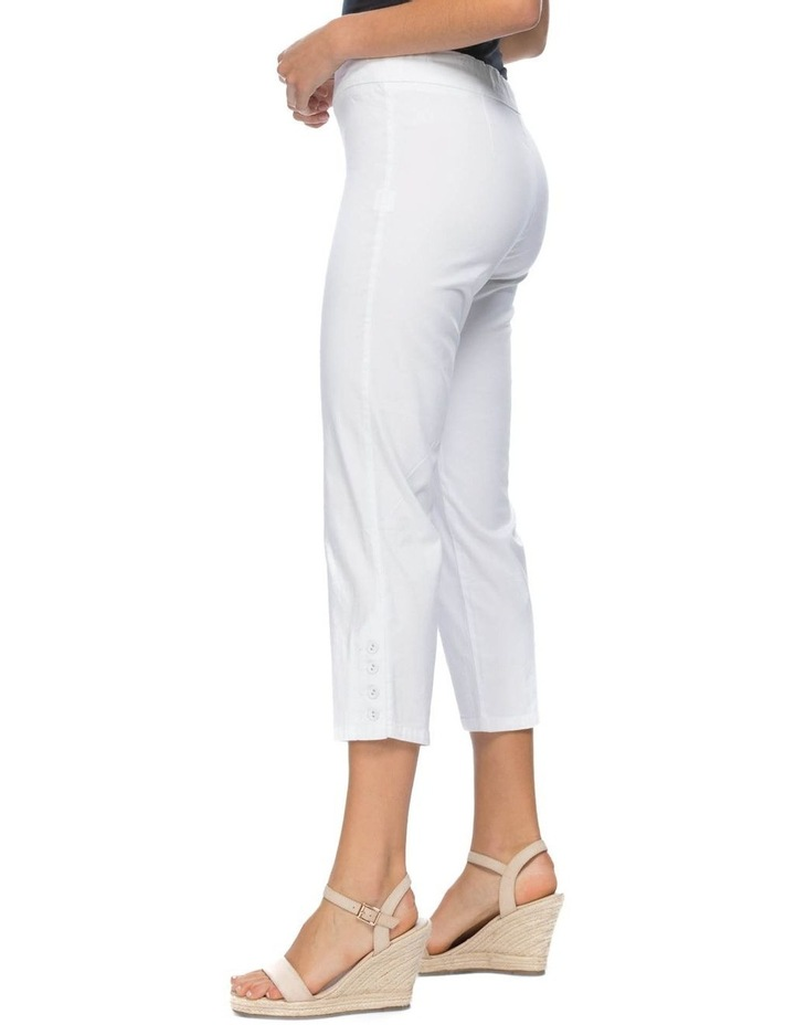 Button Crop Stretch Pull On Pant image 2