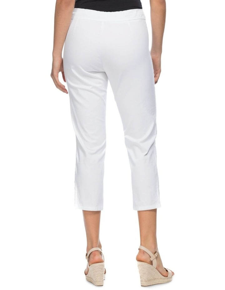 Button Crop Stretch Pull On Pant image 3