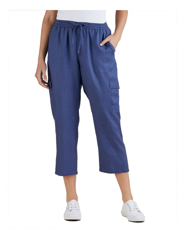 Cargo Style Linen Pant image 1