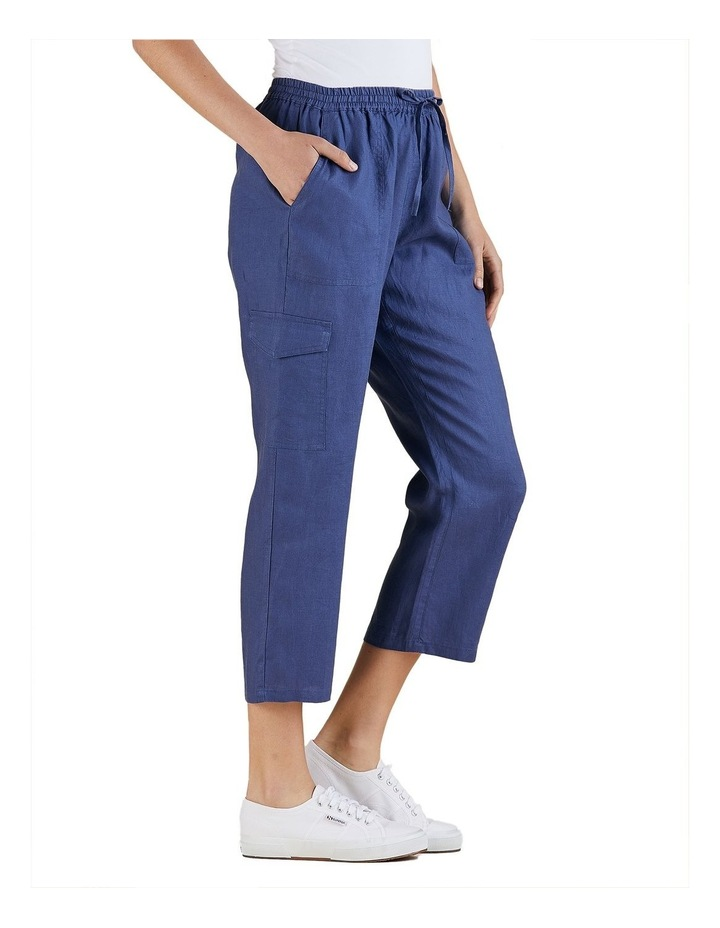 Cargo Style Linen Pant image 2