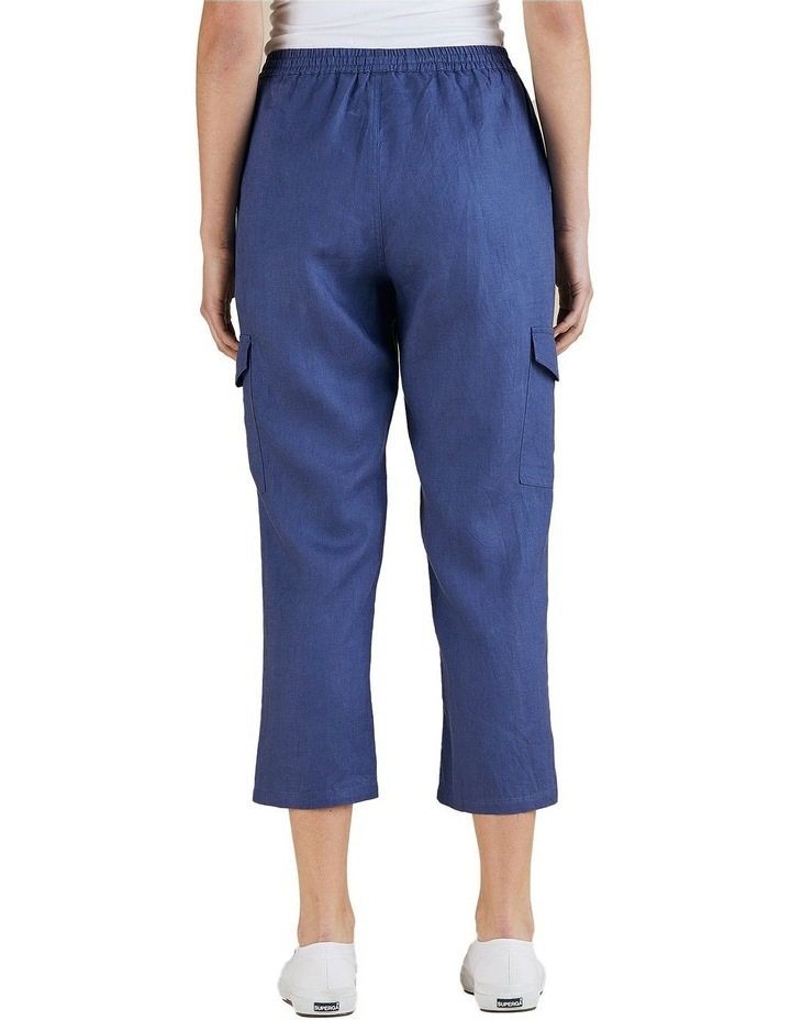 Cargo Style Linen Pant image 3