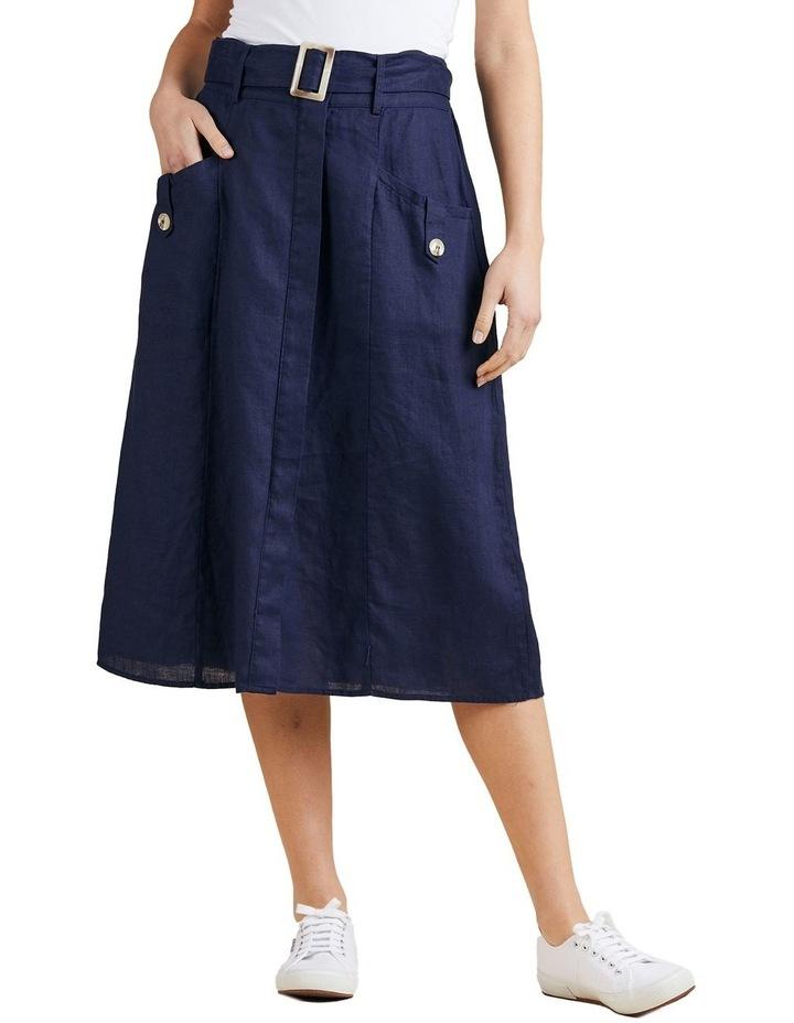 A-Line Linen Skirt image 1