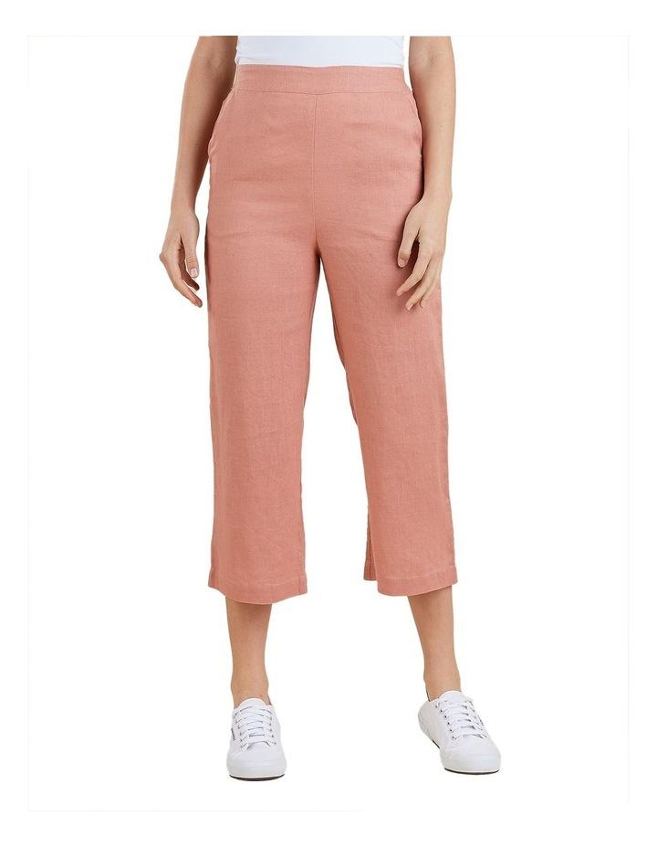 Wide Leg Linen Crop Pant image 1