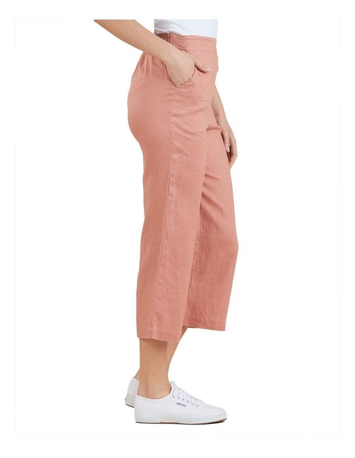 Wide Leg Linen Crop Pant image 2