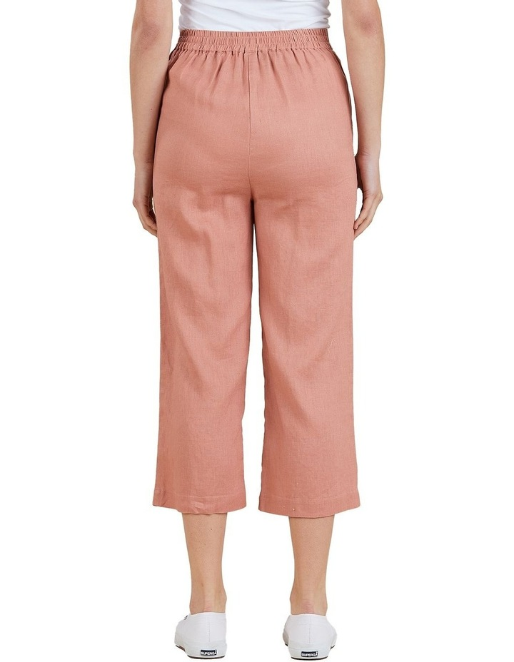 Wide Leg Linen Crop Pant image 3