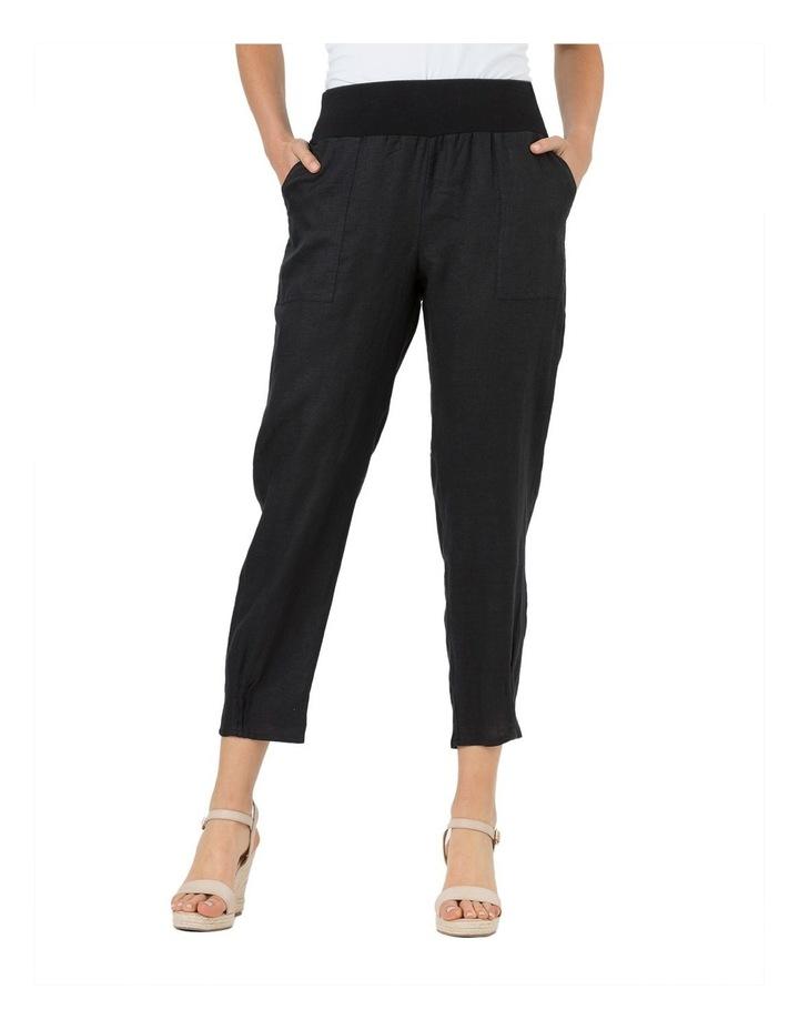 Jersey Waist Linen Pant image 1