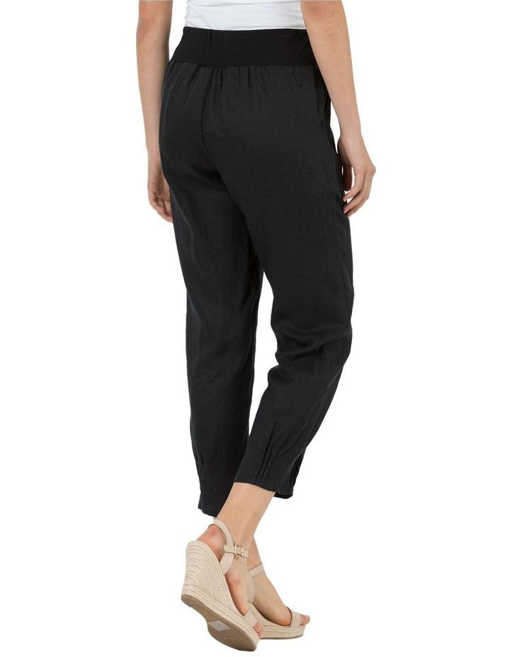 Jersey Waist Linen Pant image 3