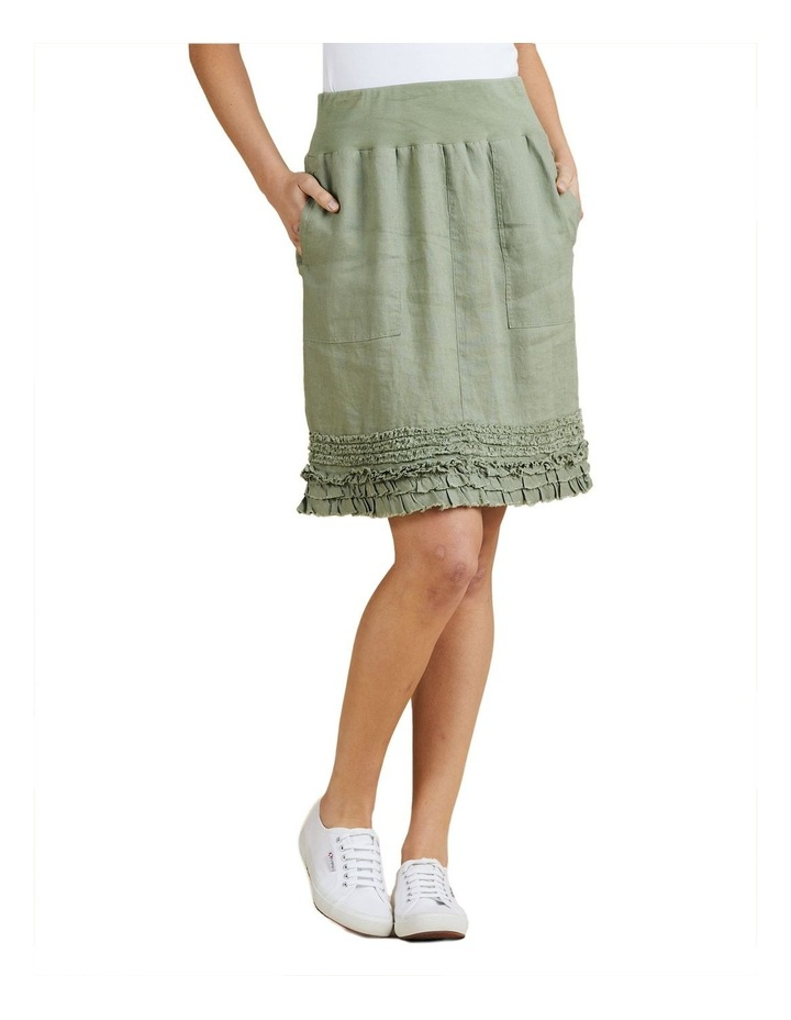 Fringed Hem Pull On Skirt image 1