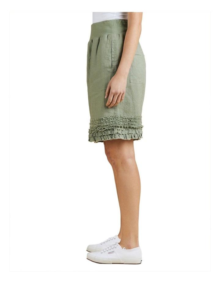 Fringed Hem Pull On Skirt image 2
