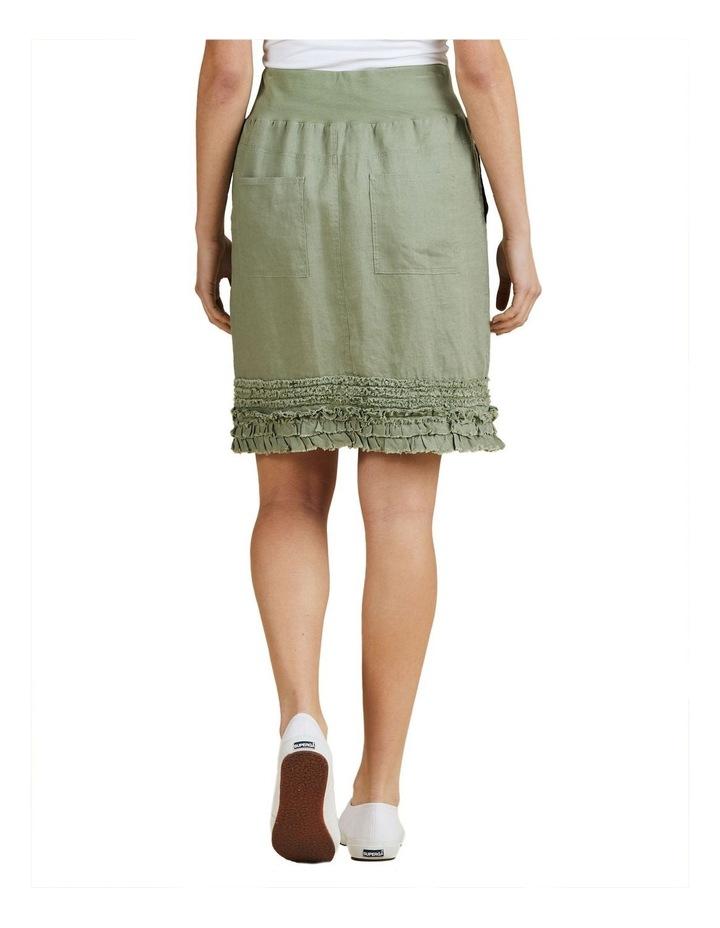 Fringed Hem Pull On Skirt image 3