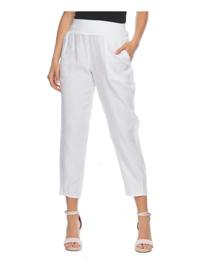 Jersey Waist Linen Pants image 1