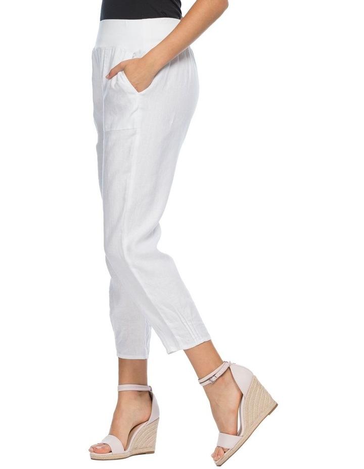 Jersey Waist Linen Pants image 2