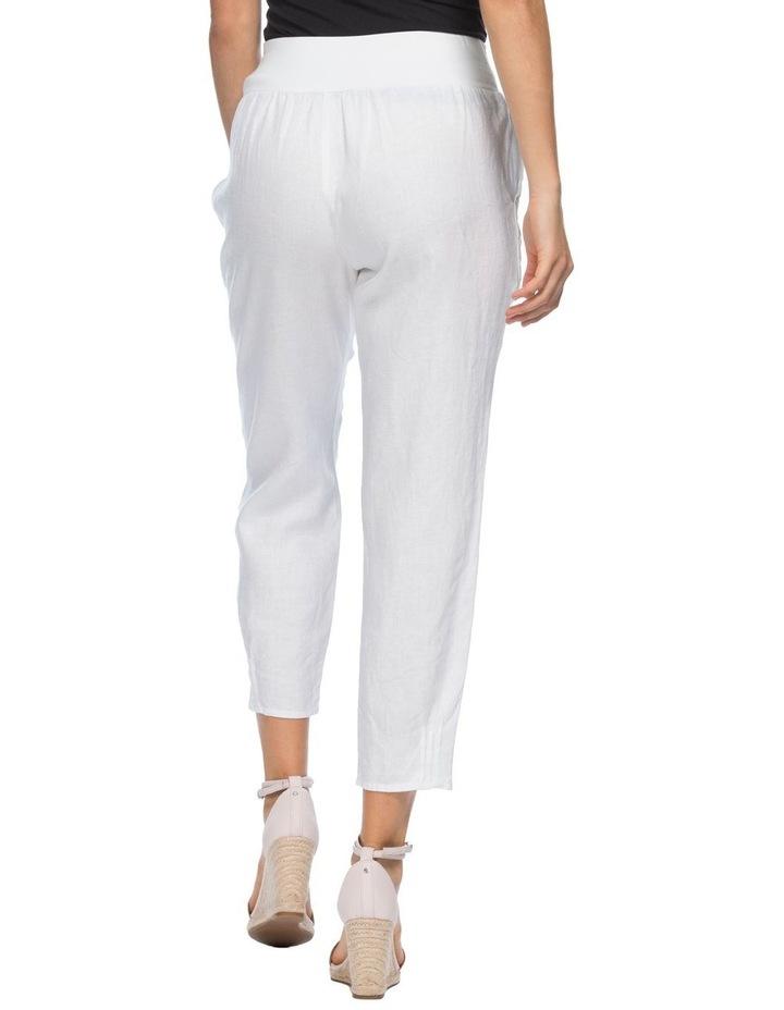 Jersey Waist Linen Pants image 3