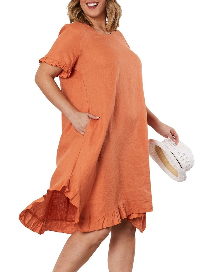 Frilled Hem Linen Dress image 3