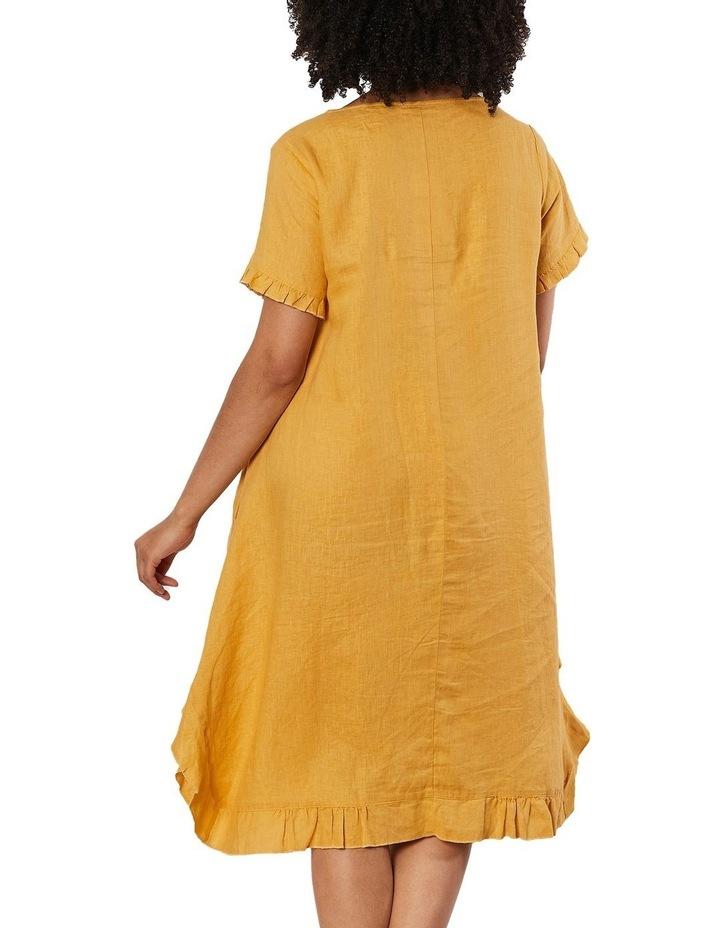 Frilled Hem Linen Dress image 2