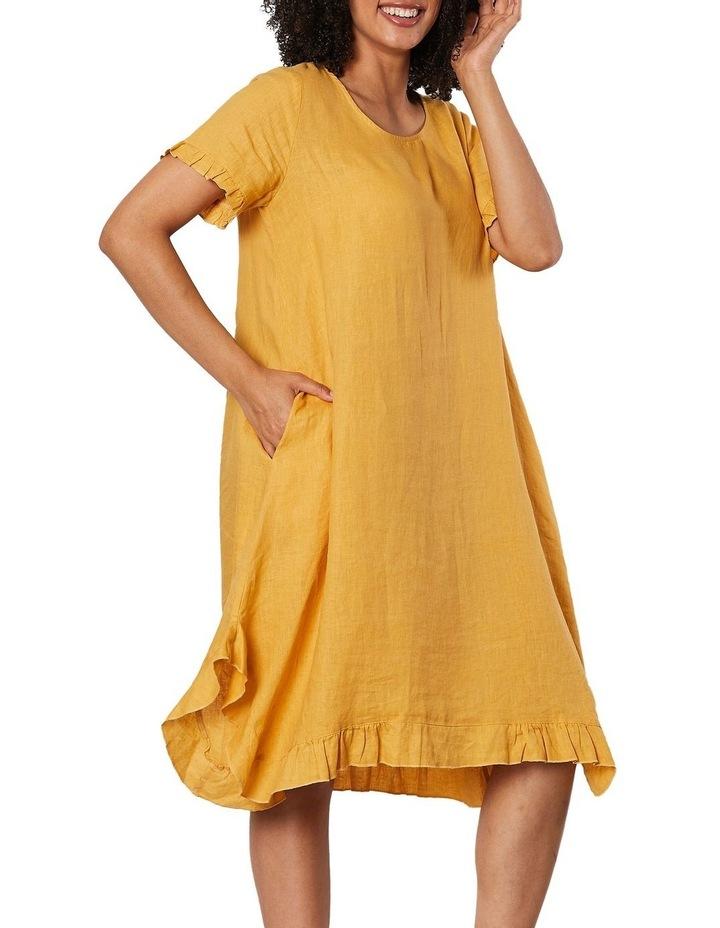 Frilled Hem Linen Dress image 4