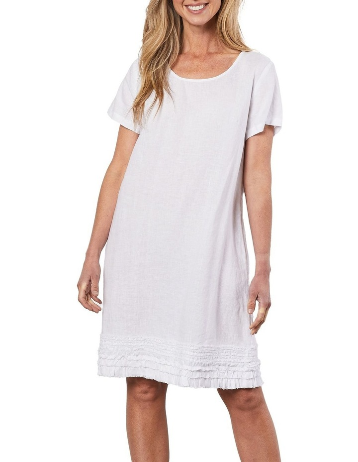 Linen Ruffle Hem Dress image 1