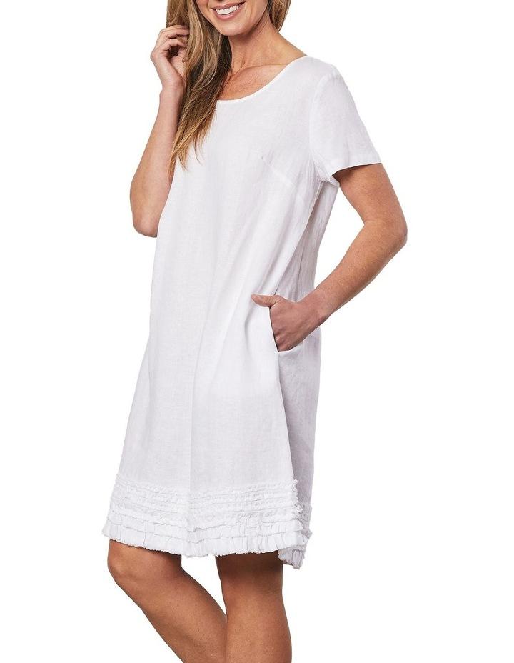 Linen Ruffle Hem Dress image 3
