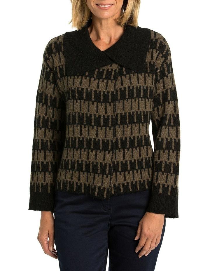 Jacquard Knit Cardi image 1