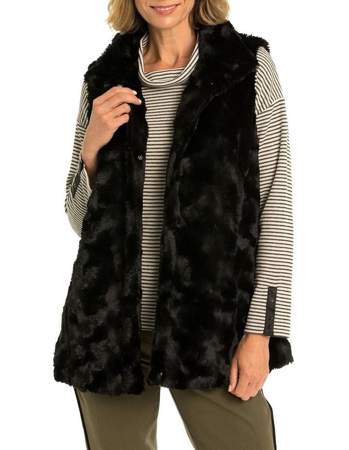 Textured Faux Fur Vest image 1