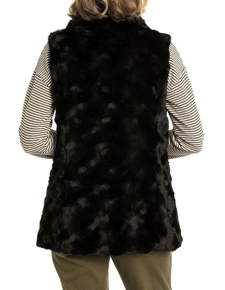 Textured Faux Fur Vest image 2