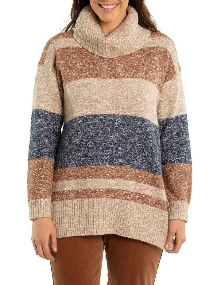 Marled Stripe Knit Tunic image 1