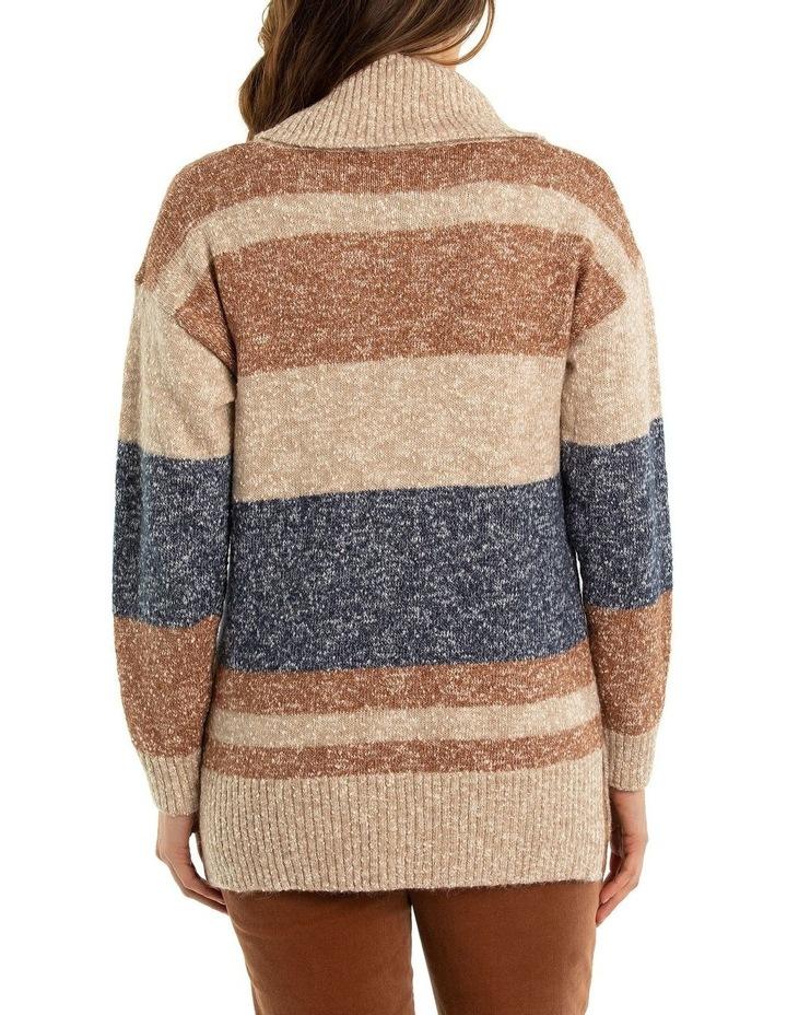 Marled Stripe Knit Tunic image 2