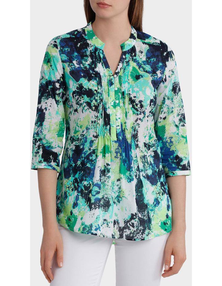 3/4 Sleeve Floral Print Shirt image 1