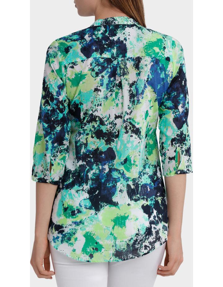 3/4 Sleeve Floral Print Shirt image 3
