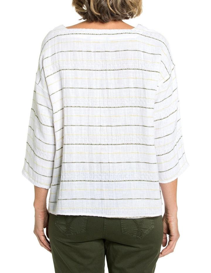 3/4 Sleeve Textured Stripe Top image 2