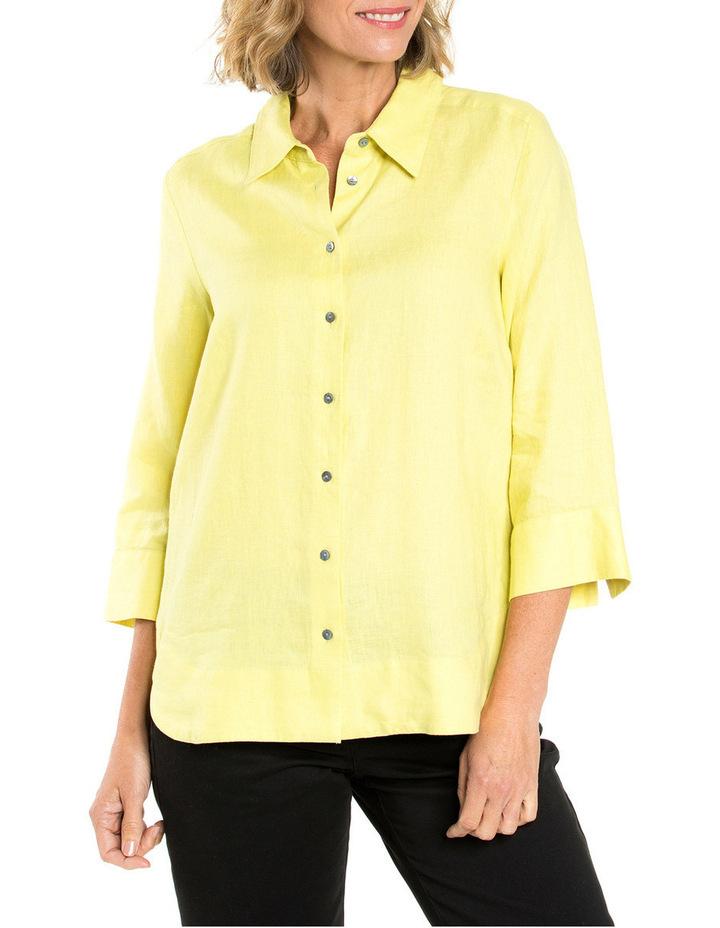 3/4 Sleeve Linen Shirt image 1