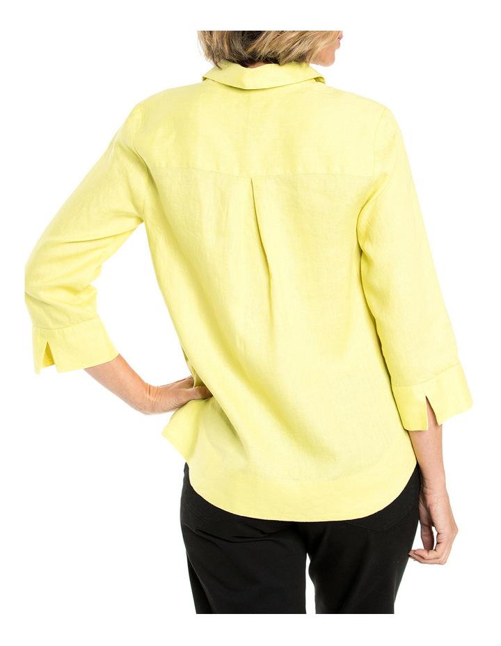 3/4 Sleeve Linen Shirt image 2