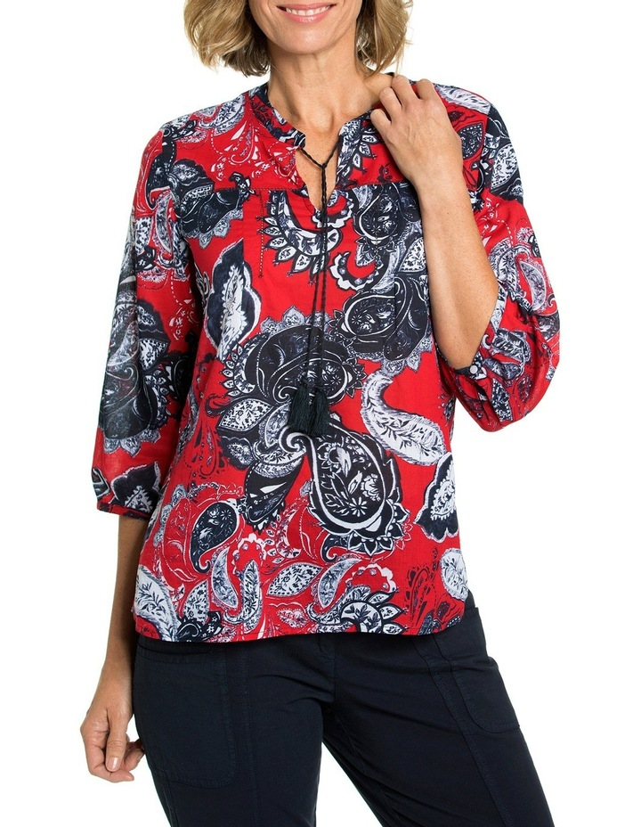 3/4 Sleeve Paisley Print Blouse image 1
