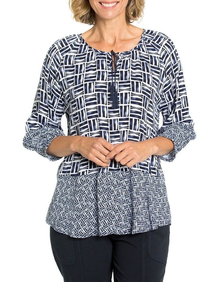 Crosshatch Print Blouse image 1
