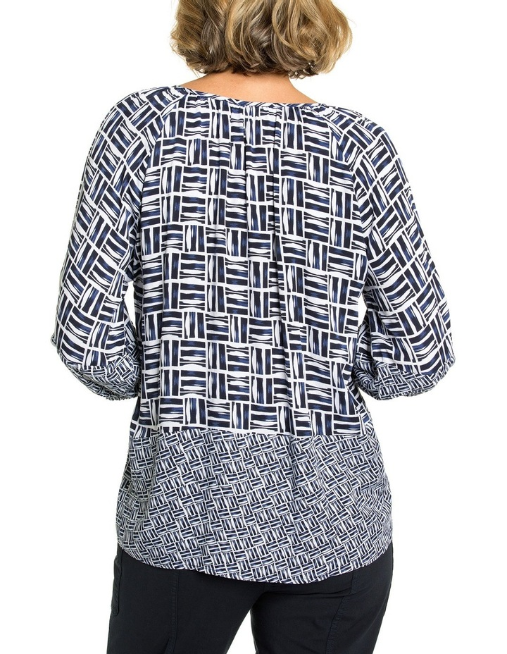 Crosshatch Print Blouse image 2