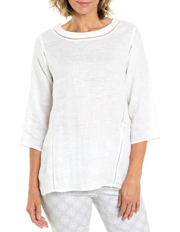 3/4 Sleeve Lace Trim Overshirt image 1