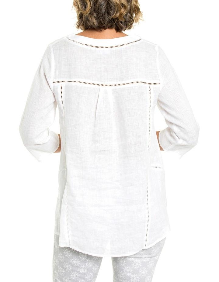 3/4 Sleeve Lace Trim Overshirt image 2