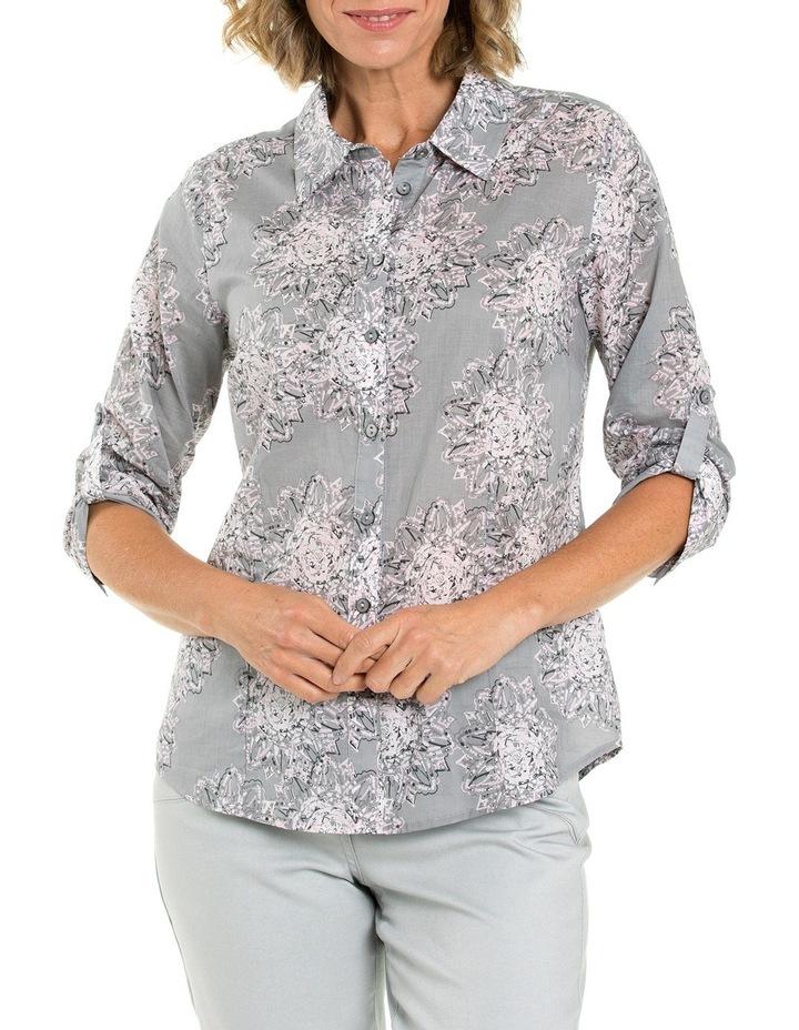 3/4 Sleeve Mandala Print Shirt image 1