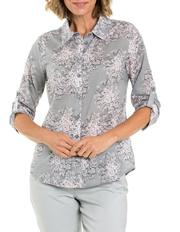 Yarra Trail - 3/4 Sleeve Mandala Print Shirt