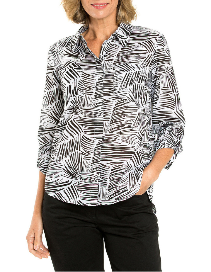 Longsleeved Wave Print Shirt image 1
