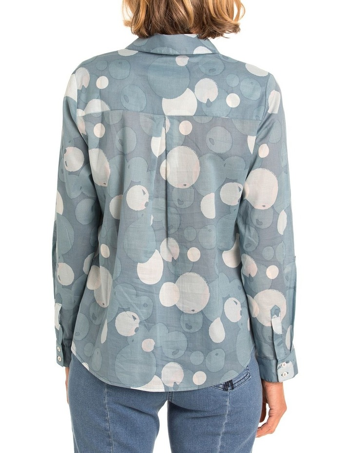 3/4 Tab Slv Bubble Print Shirt image 2