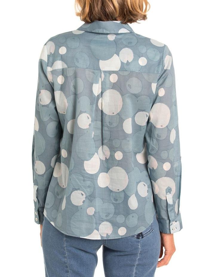 3/4 Tab Sleeve Bubble Print Shirt image 2