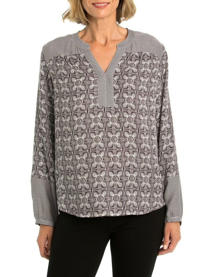 Spliced Print Blouse image 1
