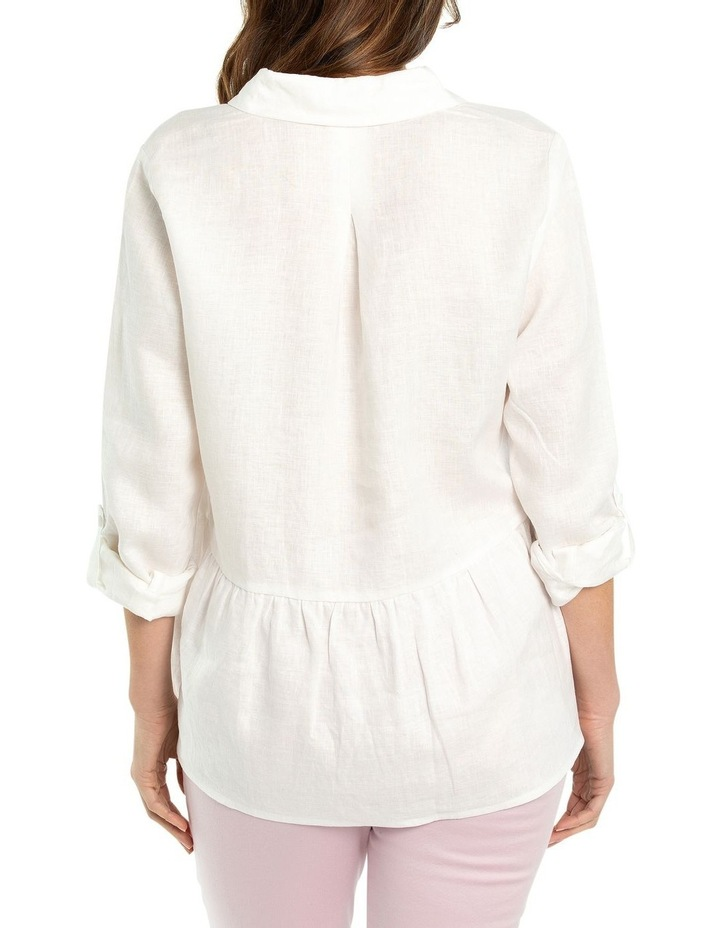 Tab Sleeve Peplum Hem Shirt image 2