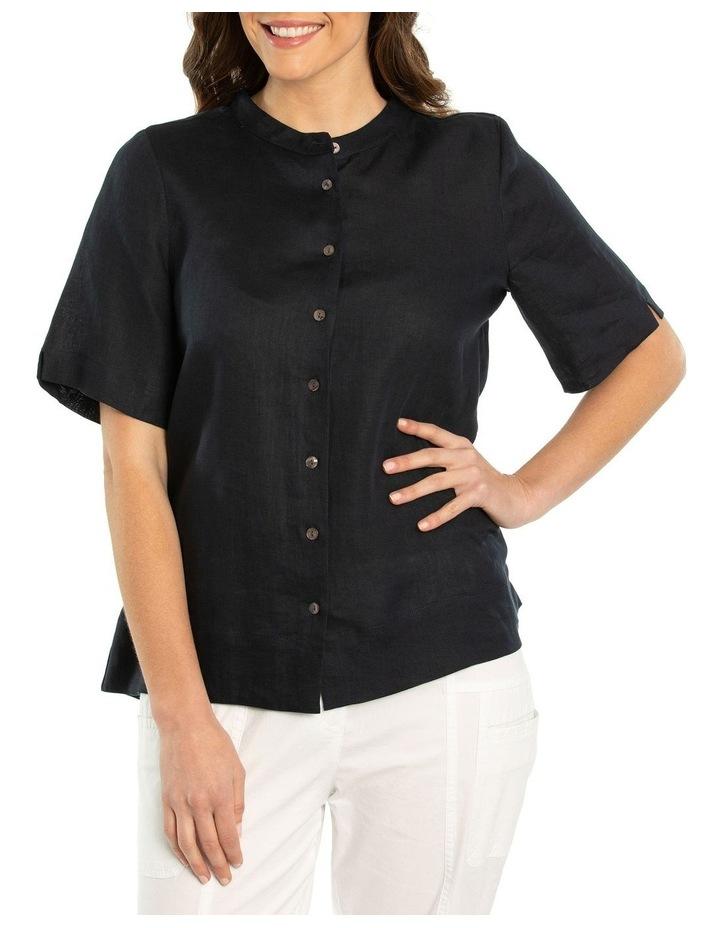 Short Sleeve Boxy Linen Shirt image 1