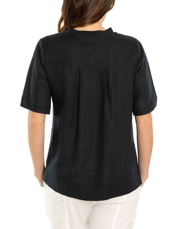 Short Sleeve Boxy Linen Shirt image 2