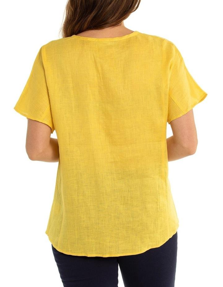 Short Sleeve Linen Panelled Shirt image 2