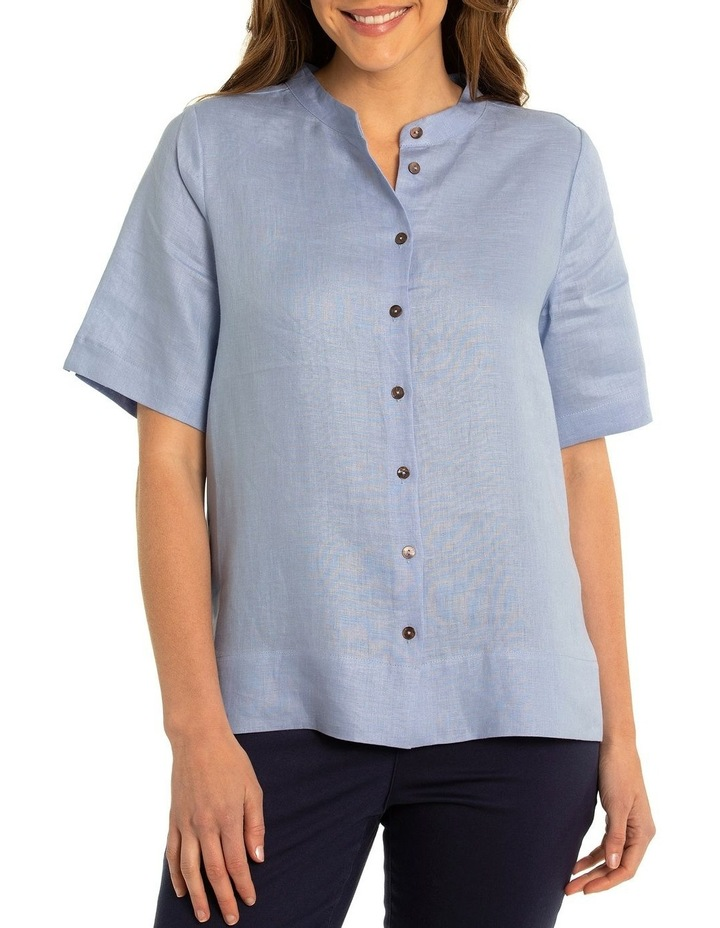 Short Sleeve Boxy Linen Shirt image 1